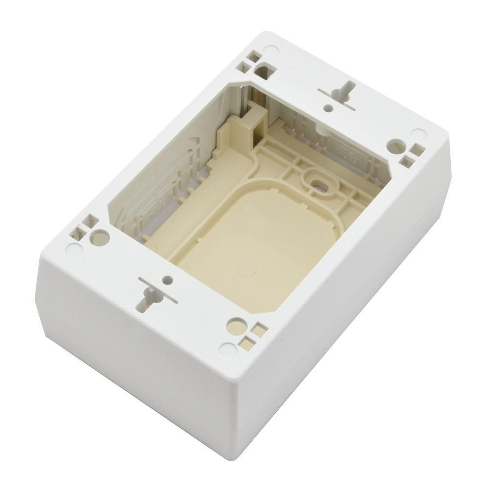 Legrand Wiremold CordMate II Cord Cover Low Voltage Data Box, White