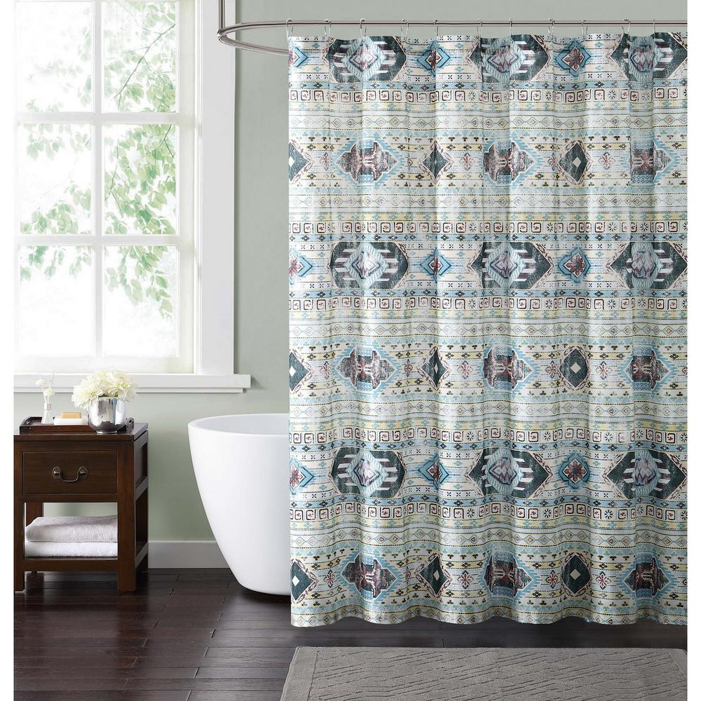 Style 212 Simone Tribal 72 In Neutral Shower Curtain SC1847 6200