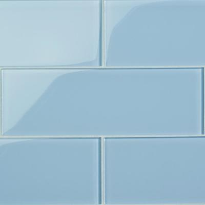 Contempo Blue Gray Polished 4 in. x 12 in. x 8 mm Glass Subway Tile (15 pieces 5 sq.ft/Box)