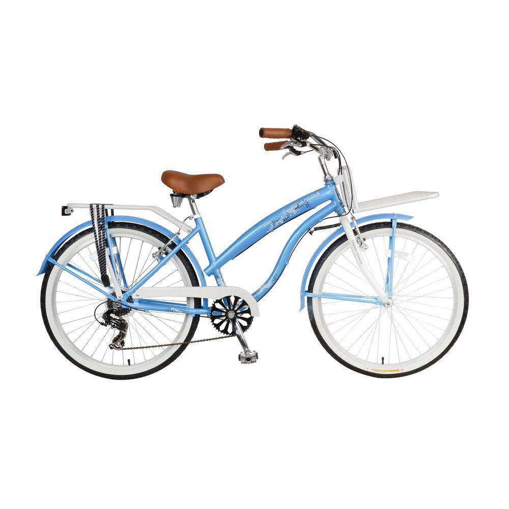 Hollandia F1 Land Cruiser Bicycle, 26 in  Wheels, 17 in  Frame, Women's  Bike in Blue