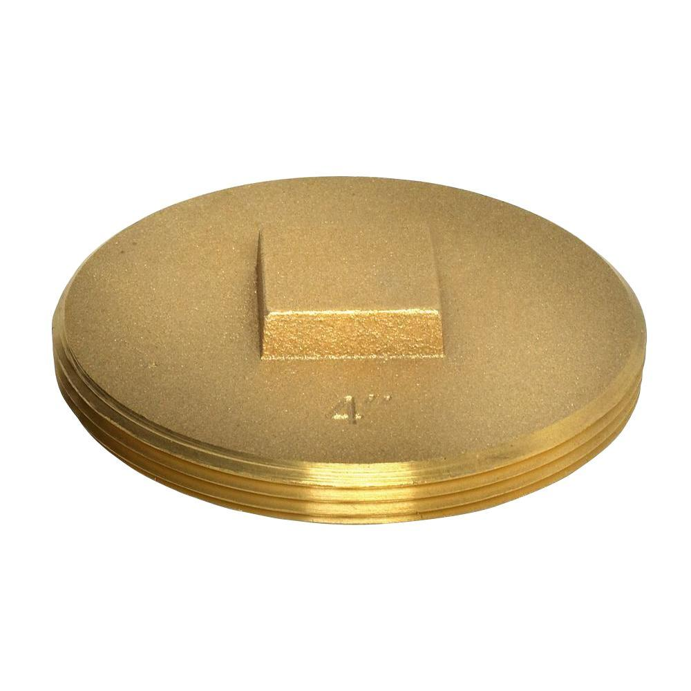 null 3-1/2 in. 185 Brass Cleanout Plug