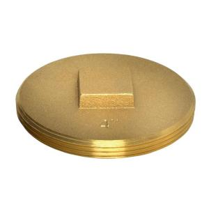 3 1 2 In 185 Brass Cleanout Plug 42373 The Home Depot