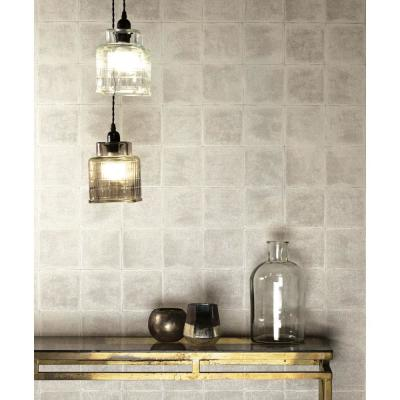 Taupe Textured Tile Wallpaper