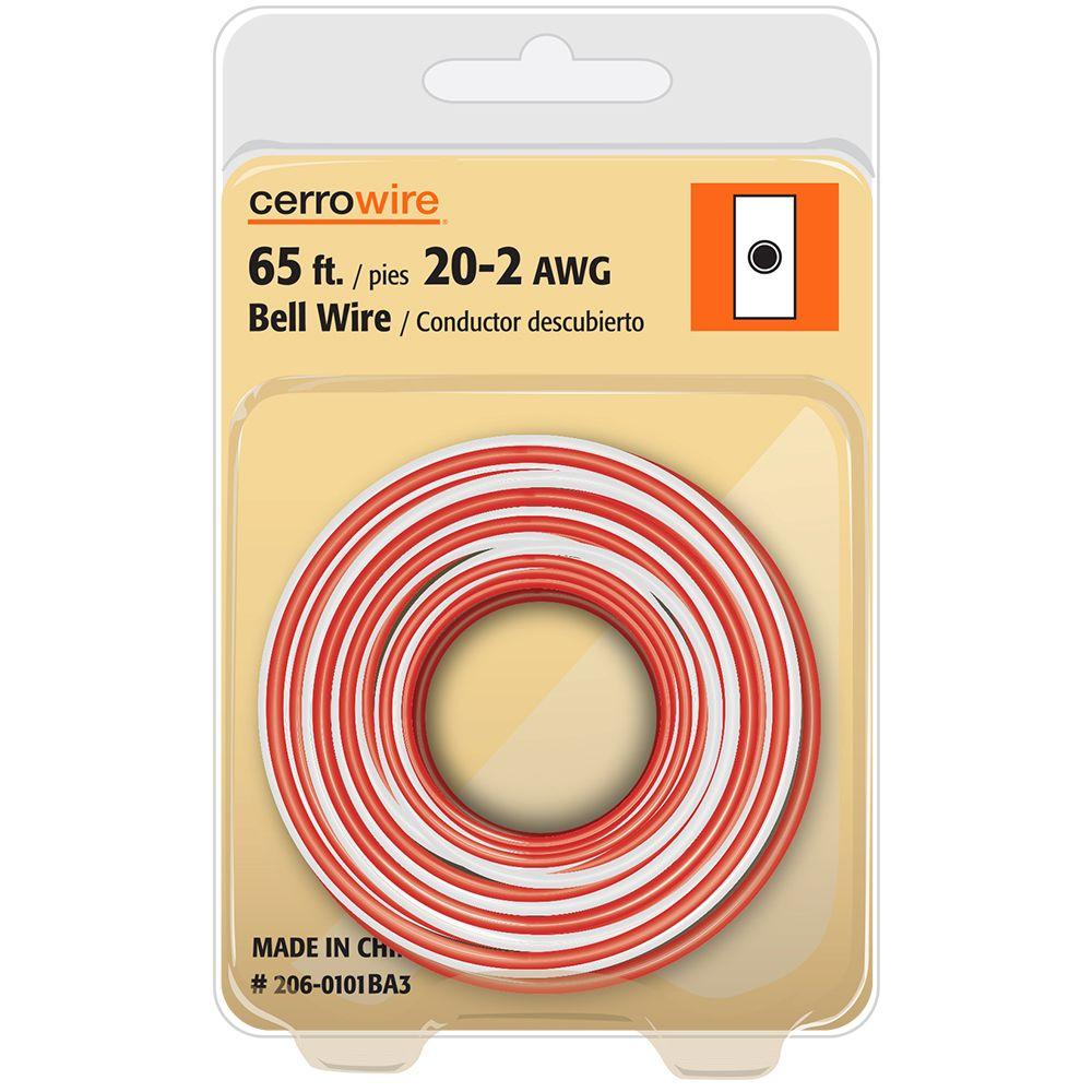 Cerrowire 65 Ft 20 2 Solid Bell Wire 206 0101ba3 The Home Depot Residential Outlet Size
