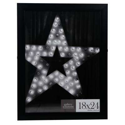18 in. x 24 in. Black Flat Ridged Poster Picture Frame