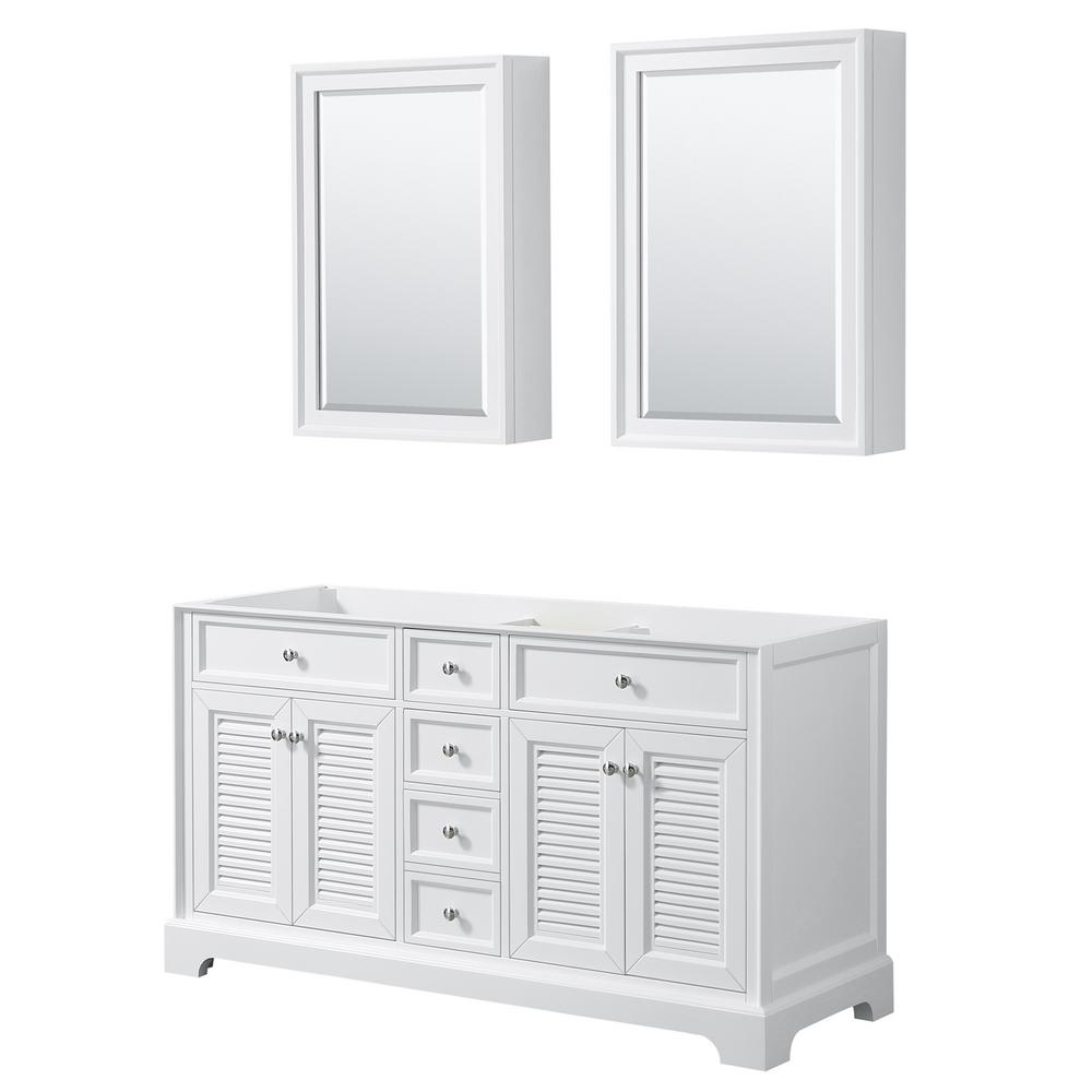Tamara 60.25 in. Double Bathroom Vanity Cabinet Only with Medicine Cabinets