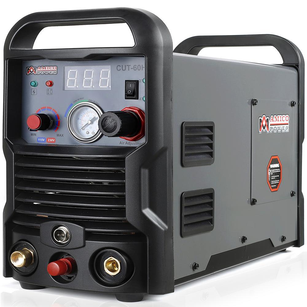 AMICO POWER 60 Amp Pilot Arc Non-Touch Plasma Cutter, 7/8 in. Clean Cut, 115-Volt and 230-Volt Dual Voltage Cutting Machine