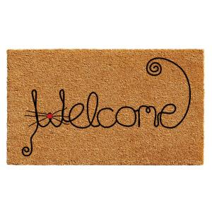 Home & More Kitty Curlicue 24 inch x 36 inch Door Mat by Home & More