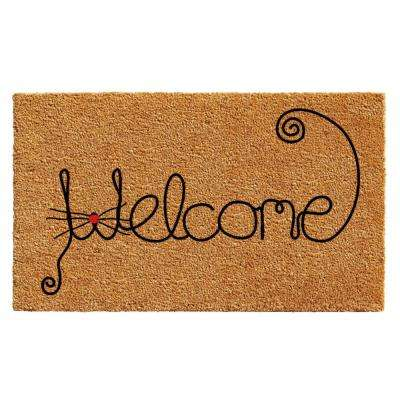 Kitty Curlicue 24 in. x 36 in. Door Mat