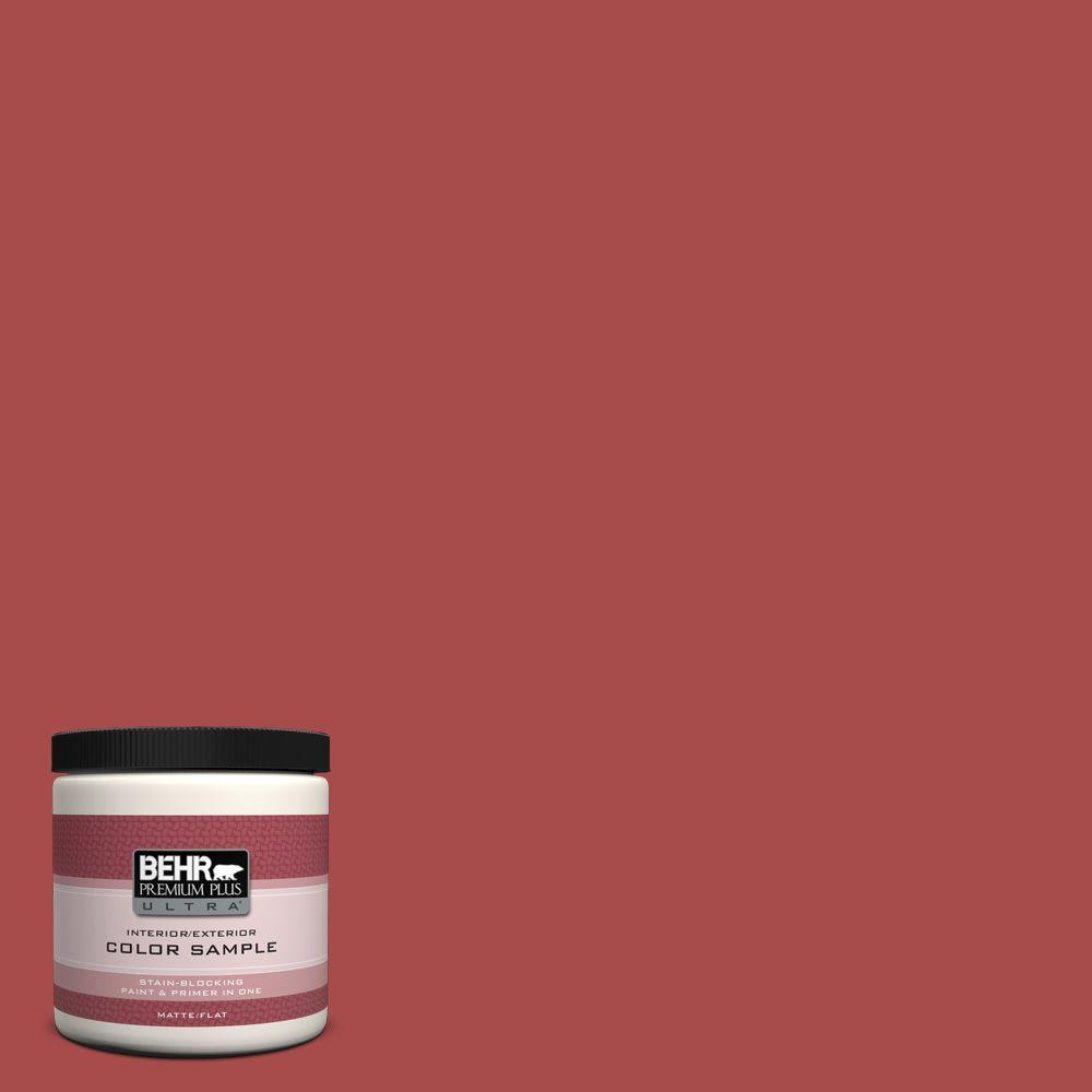 BEHR Premium Plus Ultra 8 oz. Home Decorators Collection Persimmon Red Interior/Exterior Paint Sample