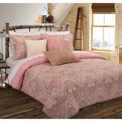 Medallion Floral Full/Queen Comforter Set