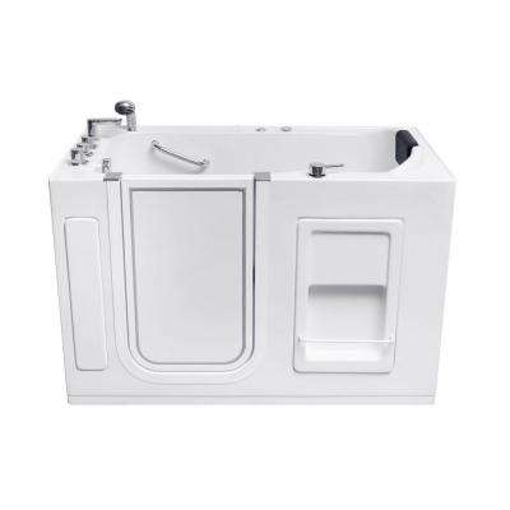 WT623 Left Drain 4.58 ft. Walk-In Whirlpool Bathtub in White