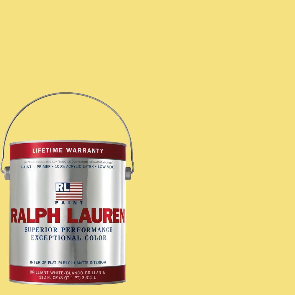 Ralph Lauren 1-gal. Collegiate Yellow Flat Interior Paint