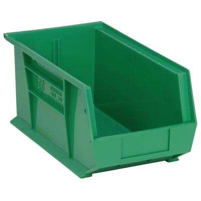 Ultra Series Stack and Hang 7.2 Gal. Storage Bin in Green (12-Pack)