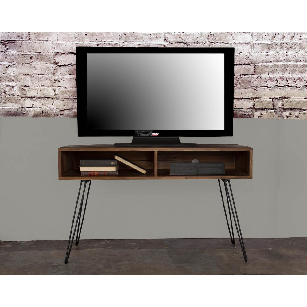 crawford burke eastwood natural wood reclaimed fir tv console media stand 061255mc the home. Black Bedroom Furniture Sets. Home Design Ideas