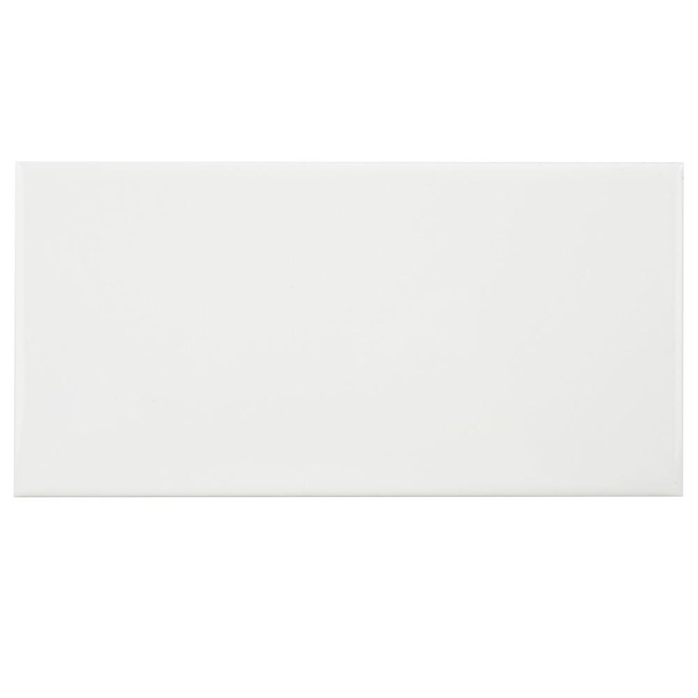 Merola Tile Park Slope Subway Glossy White 3 in. x 6 in. Ceramic Wall Tile (36 cases / 690.48 sq. ft. / pallet)