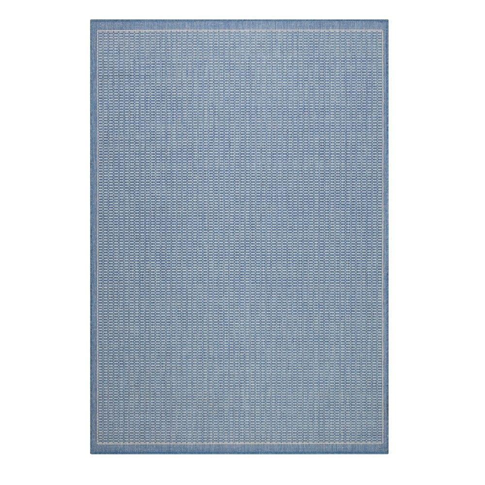 Home Decorators Collection Saddlestitch Blue/Champagne 2 ft. x 4 ft. Area Rug
