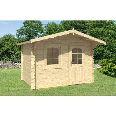 10 ft. 5 in. x 12 ft. 5 in. x 8 ft. Log Garden House Hobby Workshop Office Storage Building