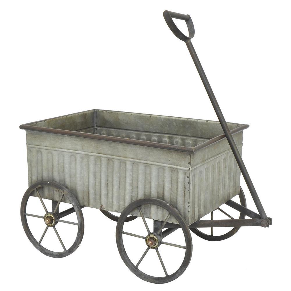 THREE HANDS Galvanized Metal Wagon-39495