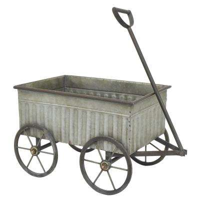 Galvanized Metal Wagon