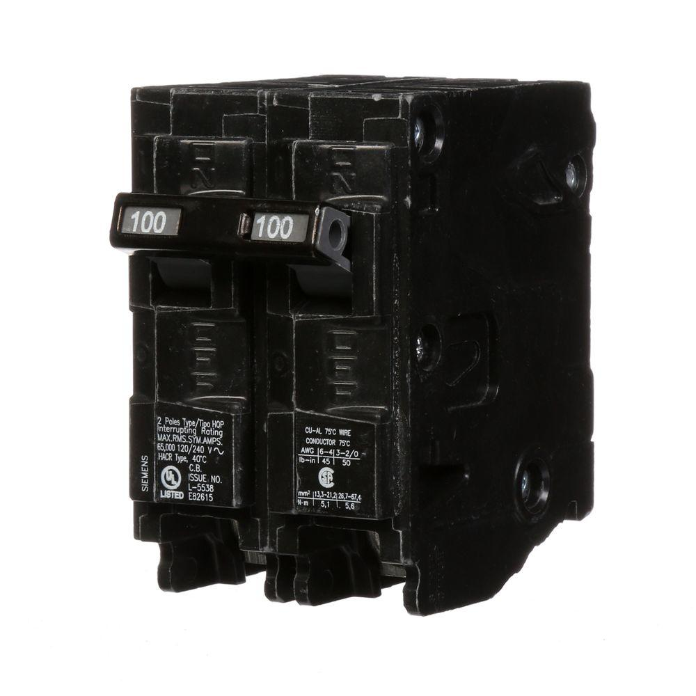 2 Pole Breakers Circuit The Home Depot 120 240 Volt Rv Wiring Diagram Get Free Image About 100 Amp Double Type Hqp 65ka Breaker