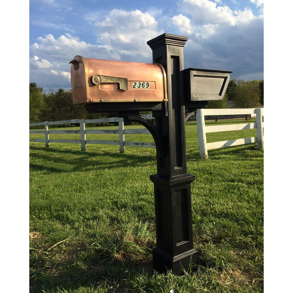 Westbrook Plus Plastic Mailbox Post, Black