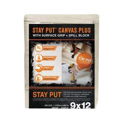 9 ft. x 12 ft. Surface Grip and Spill Block Canvas Drop Cloth