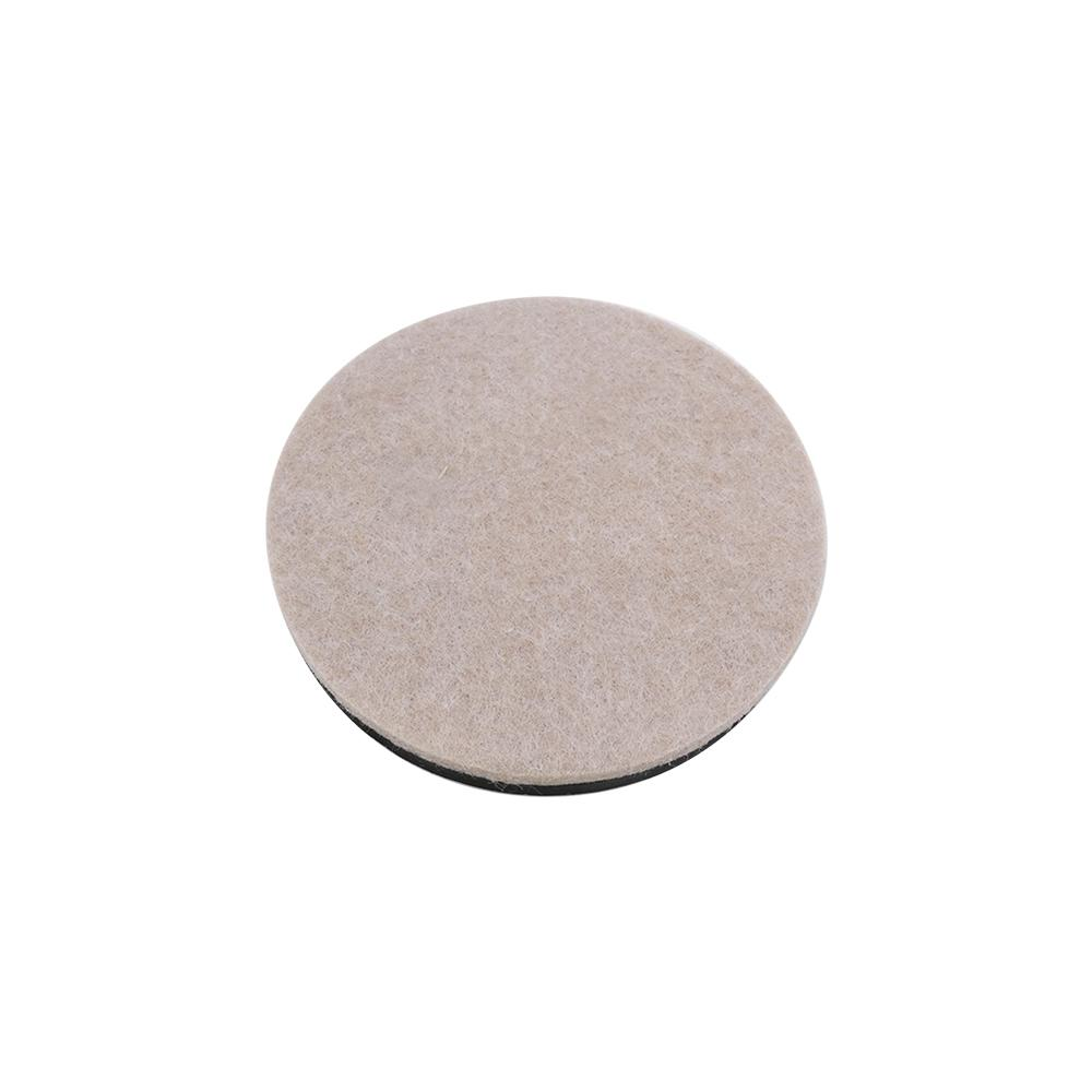 Beige Reusable Felt Round Furniture Sliders For Hard Floors 4 Pack