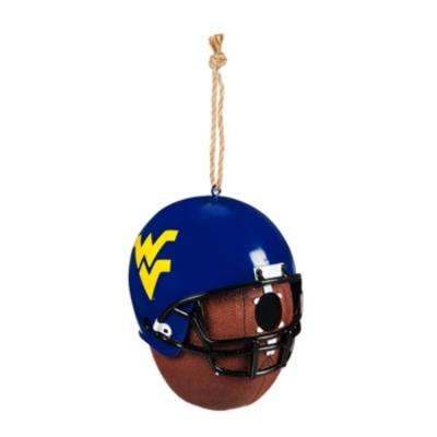 West Virginia University 6.5 in. x 7.5 in. x 8 in. Polystone Hat/Helmet Ball Birdhouse