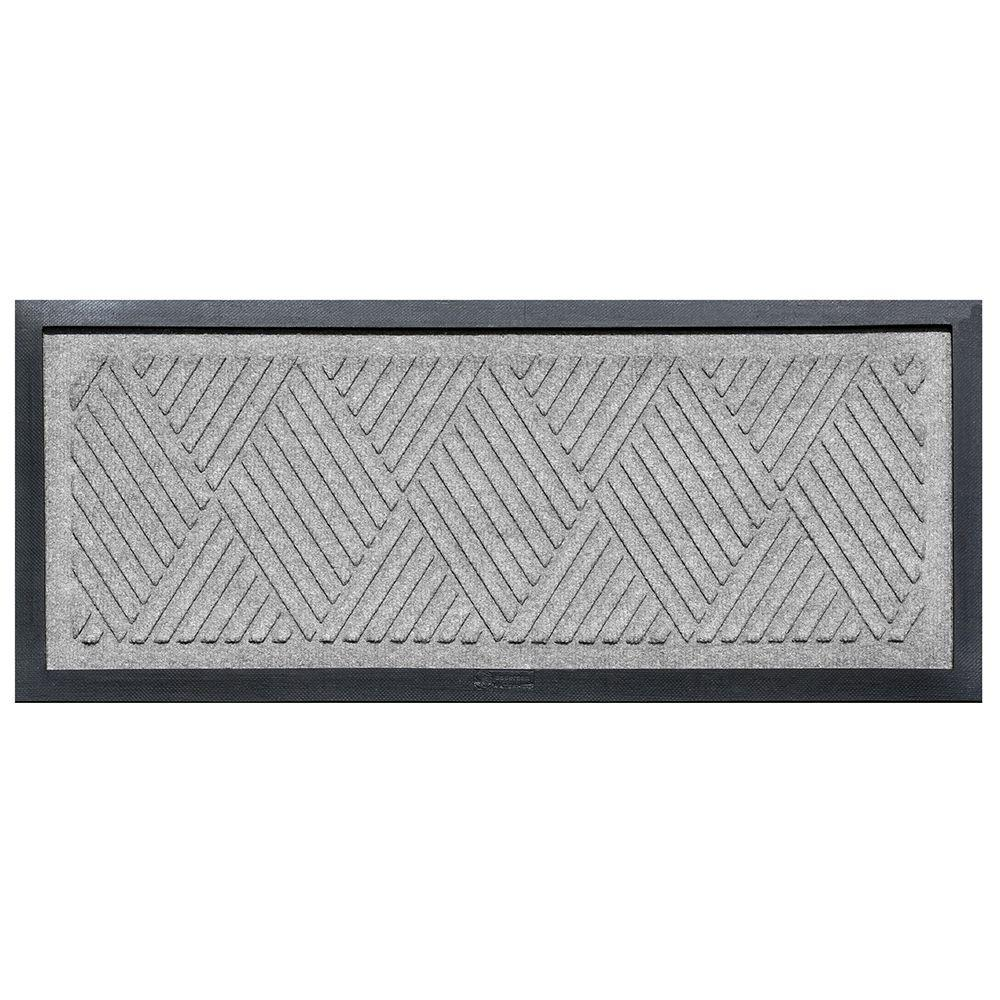 Medium Gray 15 in. x 36 in. Diamonds Boot Tray