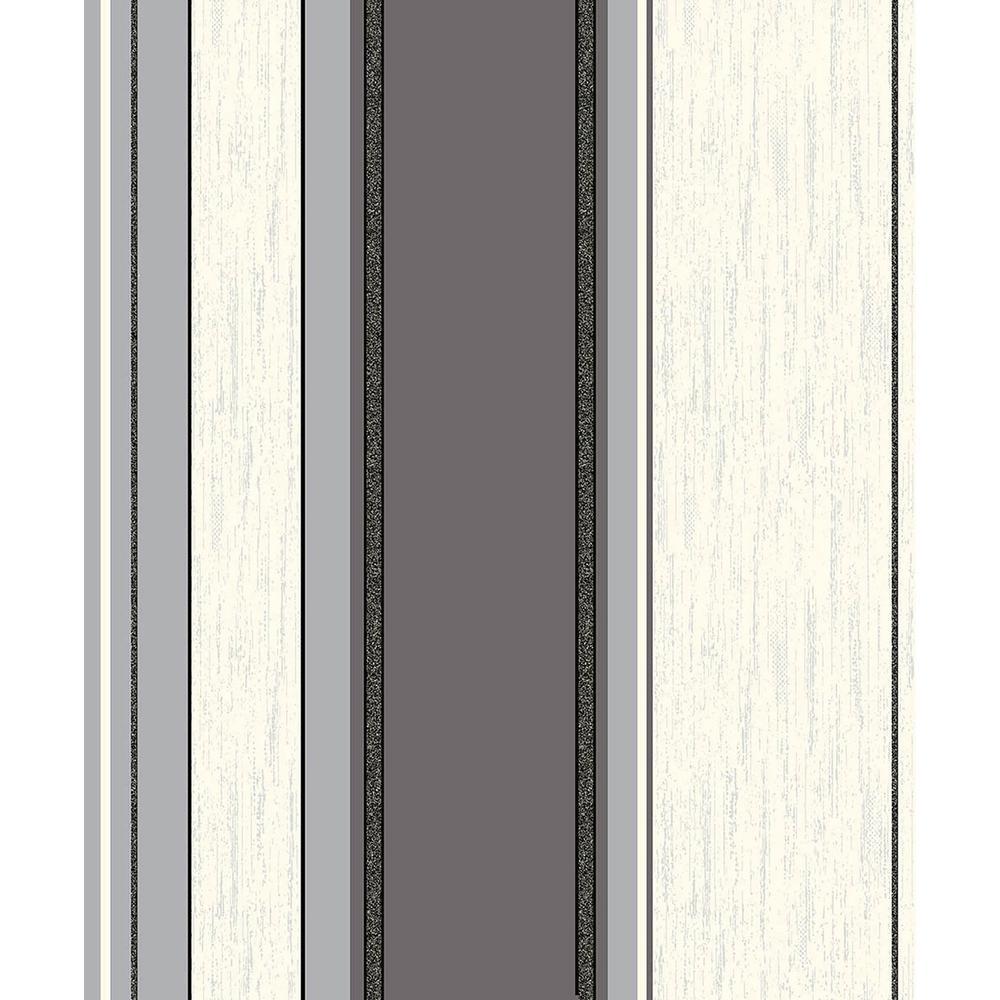 Mirabelle Black Stripe Vinyl Peelable Wallpaper (Covers 56.4 sq. ft.)