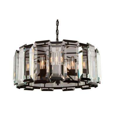 Palisades 9-Light Matt Black Chandelier