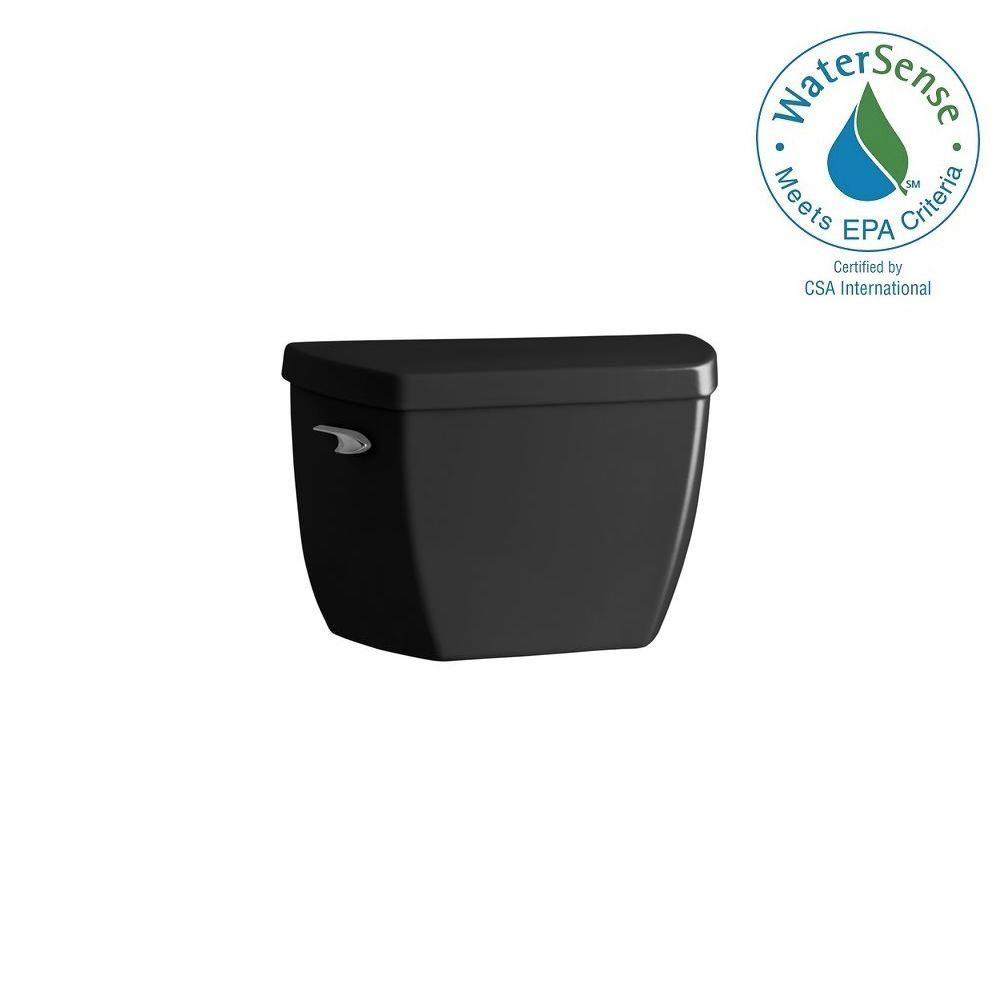 KOHLER Highline 1.0 GPF Single Flush Toilet Tank Only in Black