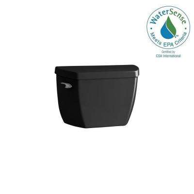 Highline 1.0 GPF Single Flush Toilet Tank Only in Black