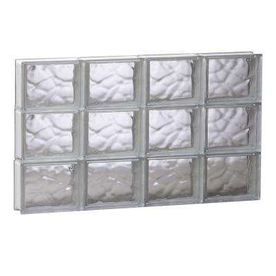 31 in. x 17.25 in. x 3.125 in. Frameless Wave Pattern Non-Vented Glass Block Window