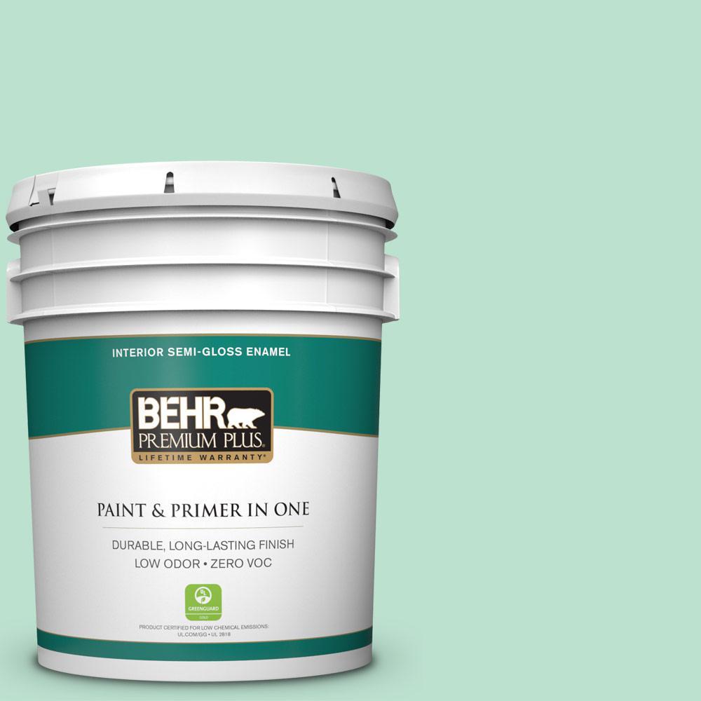 BEHR Premium Plus 5-gal. #P410-2 Spearmints Semi-Gloss Enamel Interior Paint