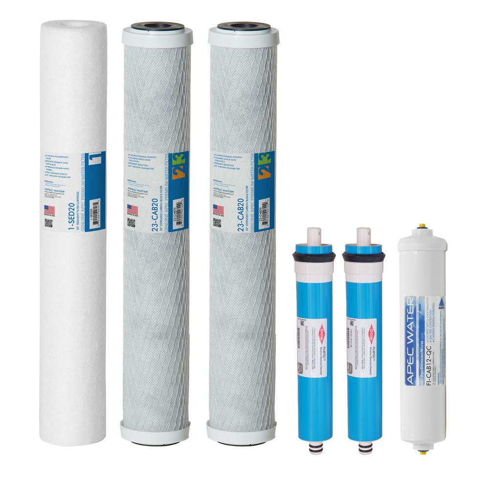 Ultimate Complete Replacement Filters with Membrane for 180 GPD Premium