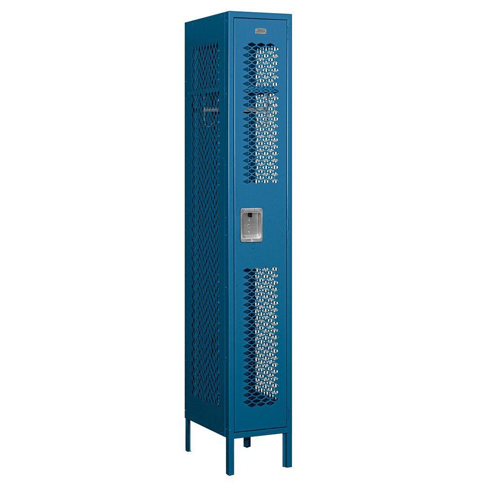 71000 Series 12 in. W x 78 in. H x 18 in. D Single Tier Vented Metal Locker Unassembled in Blue
