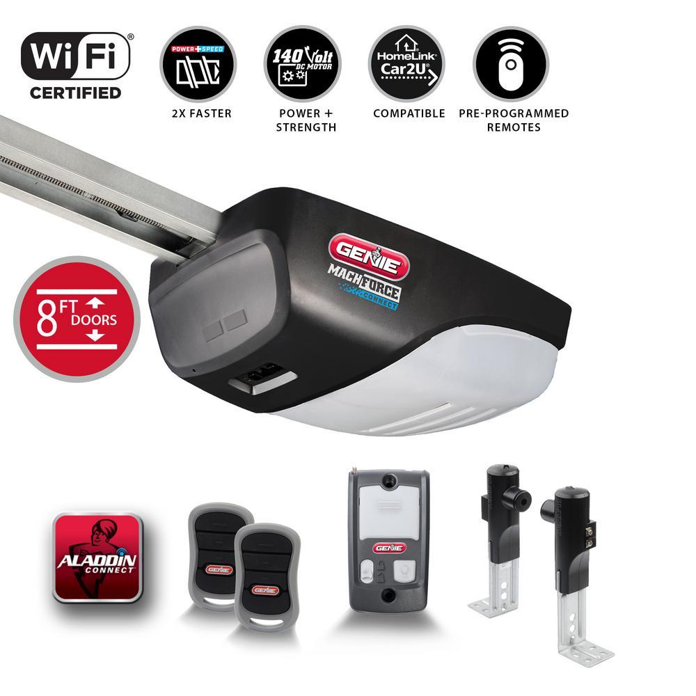 Genie MachForce Connect XL-2HPc Premium Screw Drive Smart Garage Door  Opener-8Ft  High Doors - Alexa & Google Assistant Ready