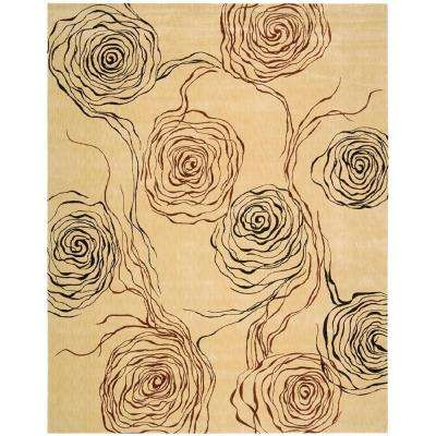 Parallels Ivory 5 ft. 6 in. x 7 ft. 5 in. Area Rug