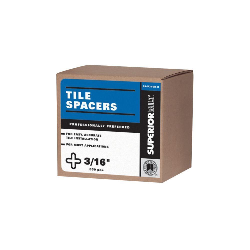 SuperiorBilt ProBilt Series 3/16 in. Tile Spacers (850 pack)