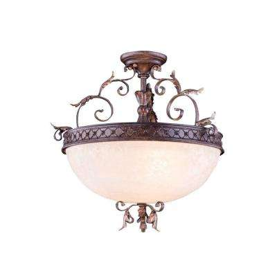 Troy 3-Light Gilded Umber Pendant Lamp