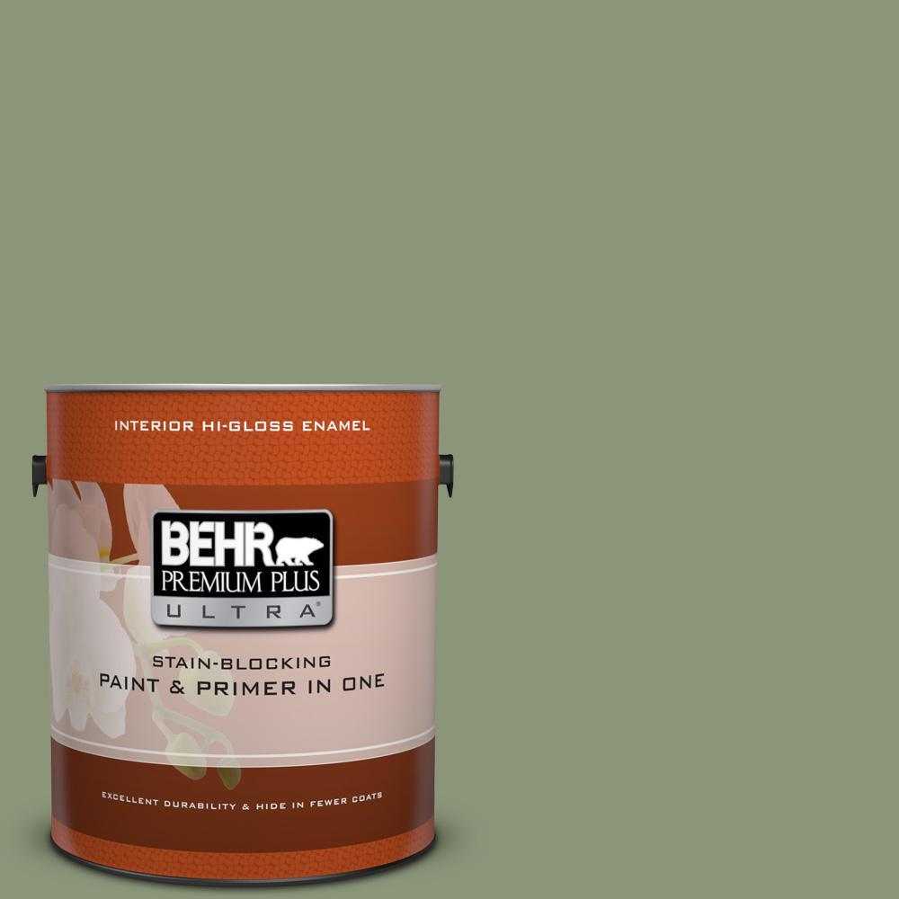 1 gal. #420F-5 Olivine Hi-Gloss Enamel Interior Paint