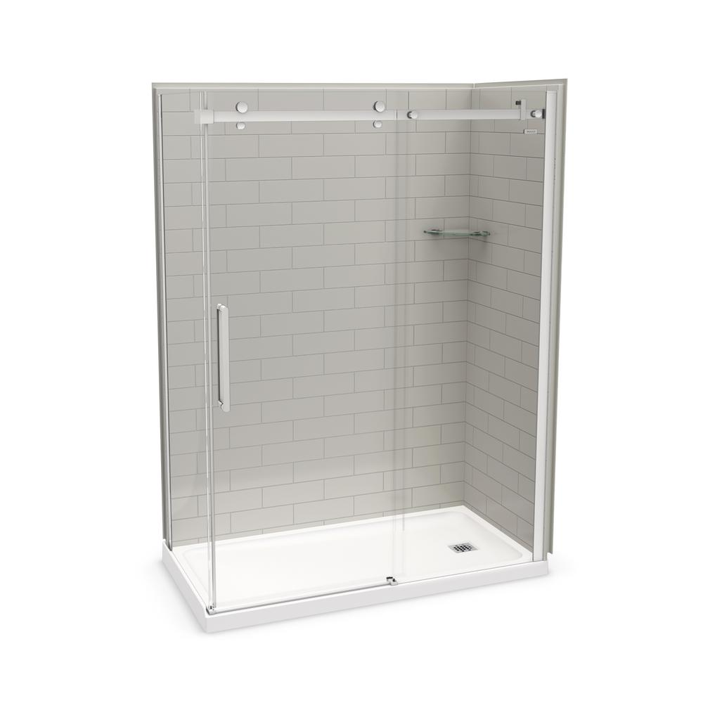 Utile By Maax 32 In X 60 In X 83 5 In Corner Shower Kit