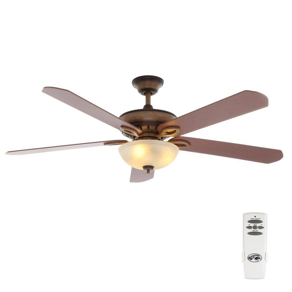 Asbury 60 in. LED Indoor Oil Rubbed Bronze Ceiling Fan with