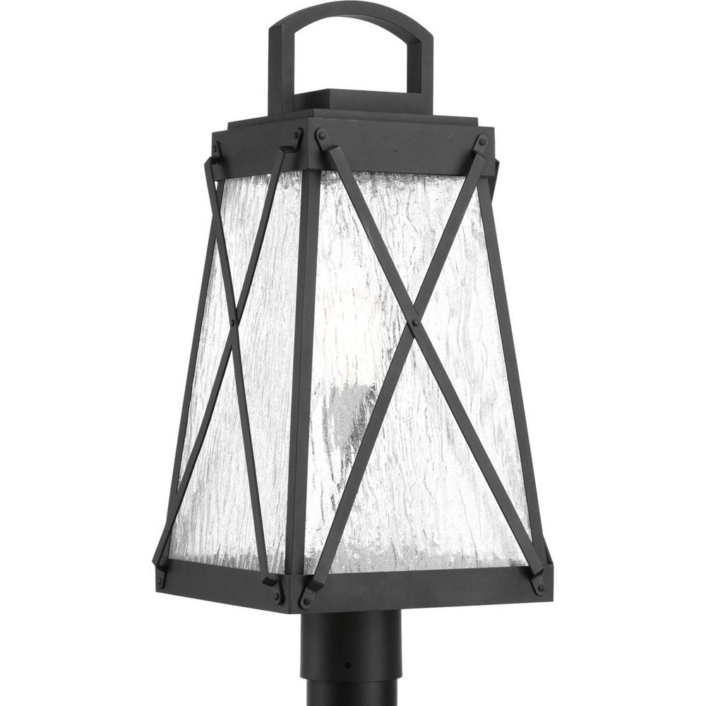 Creighton Collection 1-Light Outdoor Black Post Lantern