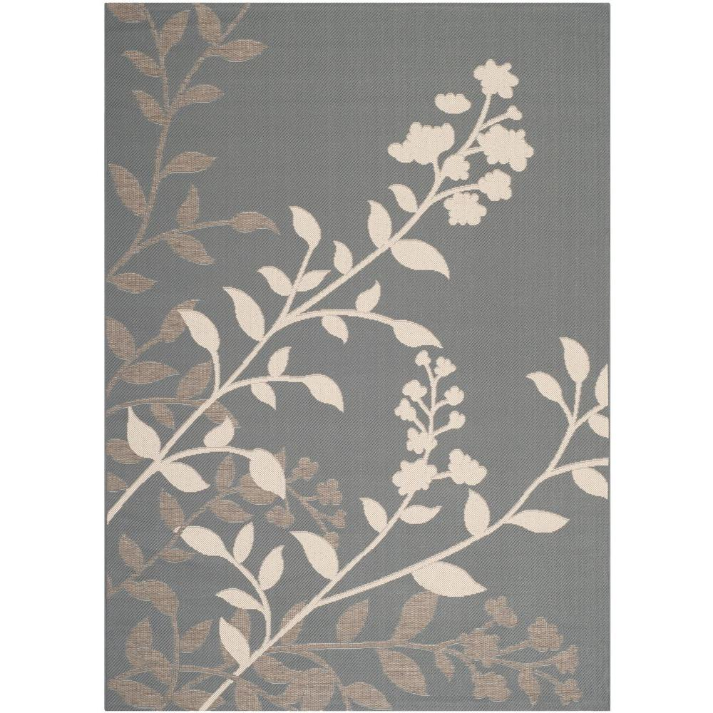 Courtyard Anthracite/Beige 6 ft. 7 in. x 9 ft. 6 in.