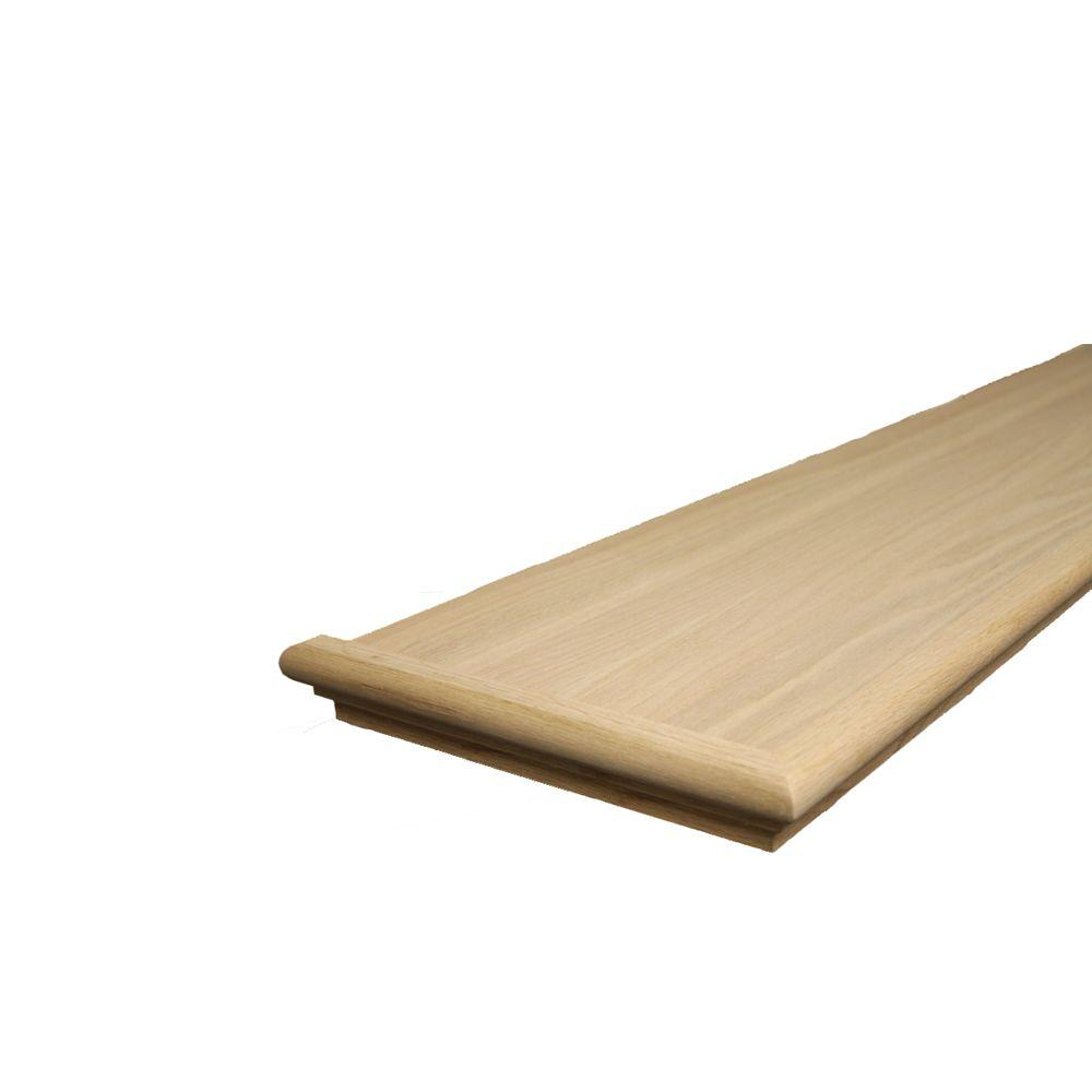 Delicieux Unfinished Red Oak Retread Left Return XLRRO1148   The Home Depot