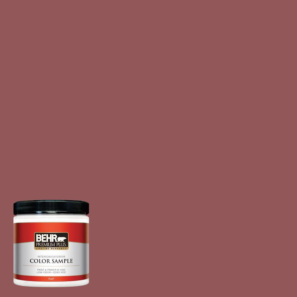 BEHR Premium Plus 8 oz. #150F-6 Gallery Red Interior/Exterior Paint Sample