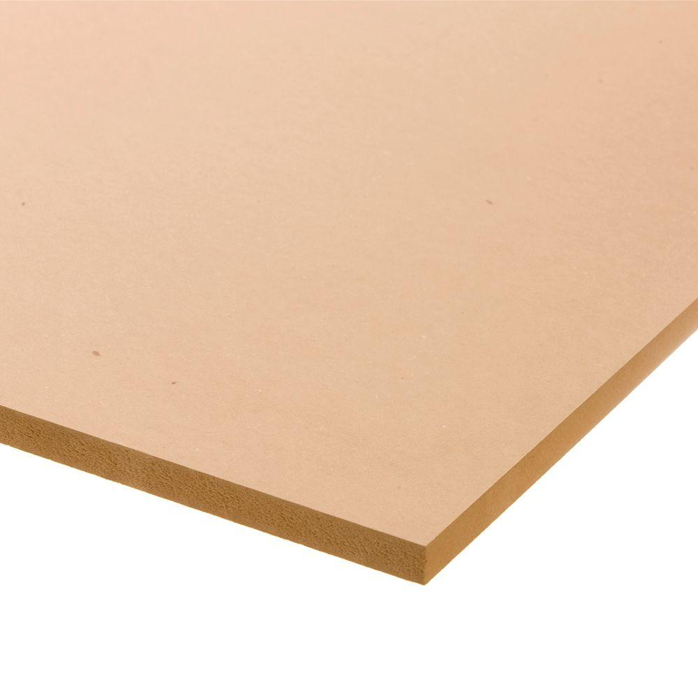 Medium Density Fiberboard (Common: 3/4 in. x 2 ft. x 4